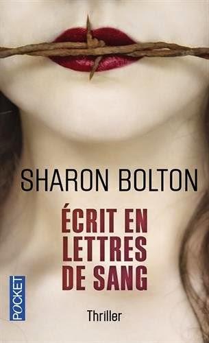 Couverture de Écrit en lettres de sang Sharon Bolton aux Editions Pocket