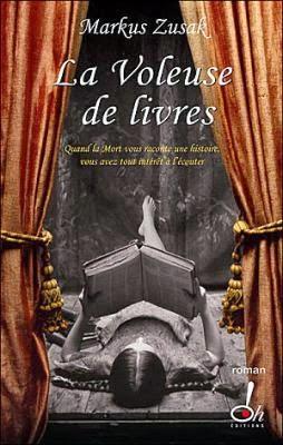 Couverture de La voleuse de livres de Markus Zusak aux éditions Oh