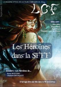 Couverture dwebzine LCF consacré aux Héroines dans la sfff