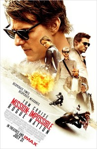 Affiche du film Mission impossible Rogue nation de Christopher McQuarrie
