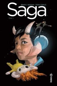 couverture de Saga tome 5 de Vaughan et Staples