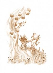 illustration des feilges par amandine labarre pour l autre herbier