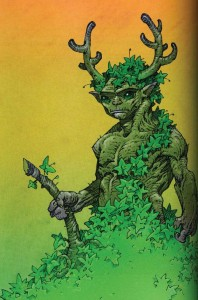 un green man par caza