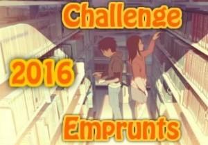 logo du challenge emprunts de livres 2016