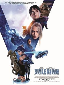 affiche du film Valerian et la cité des mille planetes