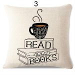 coussin coffee and books