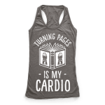 t-shirt turning pages is my cardio
