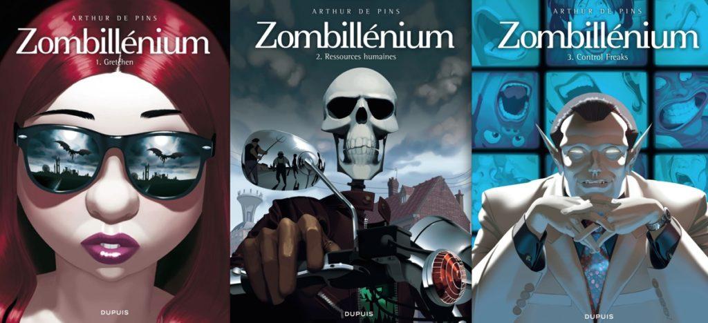 couvertures des 3 tomes de zombillenium