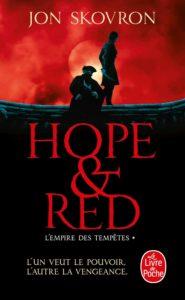 Couverture du tome 1 de Hope & Red, L'Empire des tempêtes, de Jon Skovron