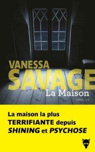 couverture du roman la maison de vanessa savage