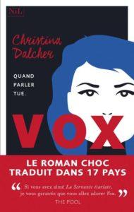 Couverture du roman Vox de Christina Dalcher