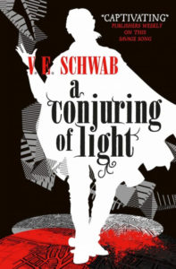 Couverture de A conjuring of light, tome 3 de Shades of magic, de V. E. Schwab