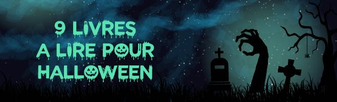 banniere 9 livres à lire pour halloween